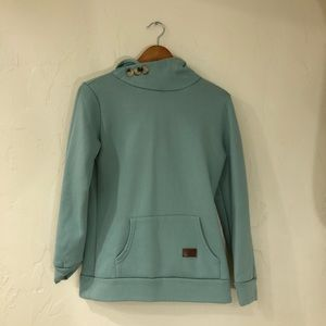 Tops - Blue hoodie with buttons
